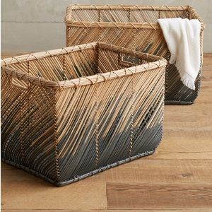 Anthropologie Baskets (set of two)